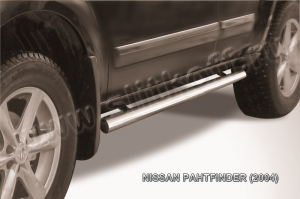 NISSAN PATHFINDER (2004)-Пороги d76 труба